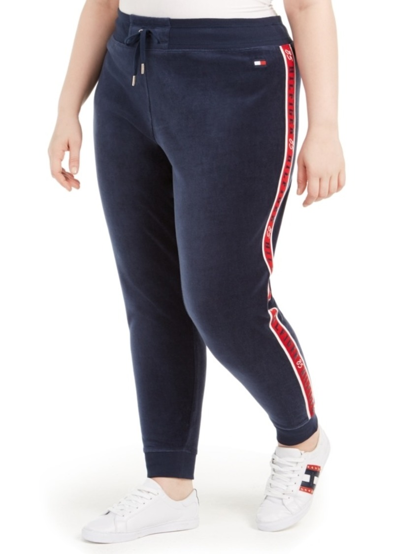 Tommy Hilfiger Sport Plus Size Logo-Trim Jogger Sweatpants