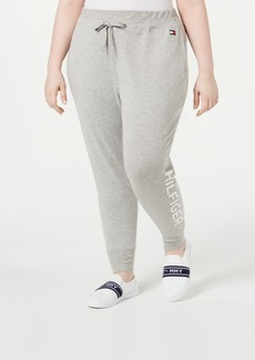 Tommy Hilfiger Sport Plus Size Ribbed Logo Jogger Pants