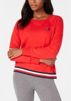 Tommy Hilfiger Sport Striped-Hem Sweatshirt