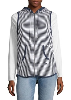 Tommy Hilfiger Striped Sleeveless Hoodie