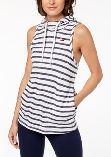 Tommy Hilfiger Sport Striped Sleeveless Hoodie, Created for Macy's