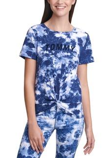 Tommy Hilfiger Sport Tie-Dyed Twist-Hem T-Shirt
