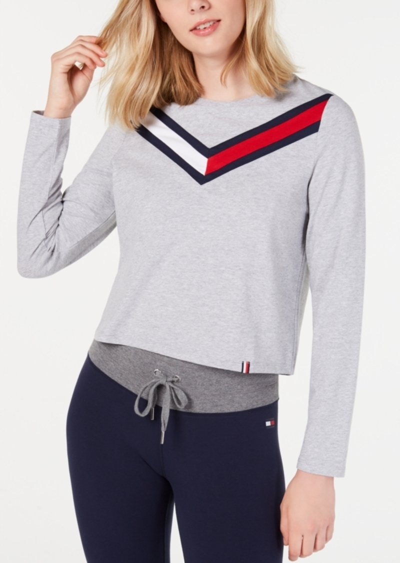 Tommy Hilfiger Sport Varsity-Stripe Cropped Top