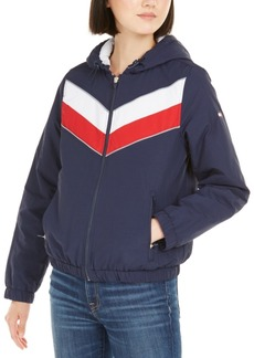 Tommy Hilfiger Sport Varsity-Stripe Hooded Jacket