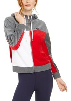 Tommy Hilfiger Sport Velour Colorblocked Zip-Up Jacket