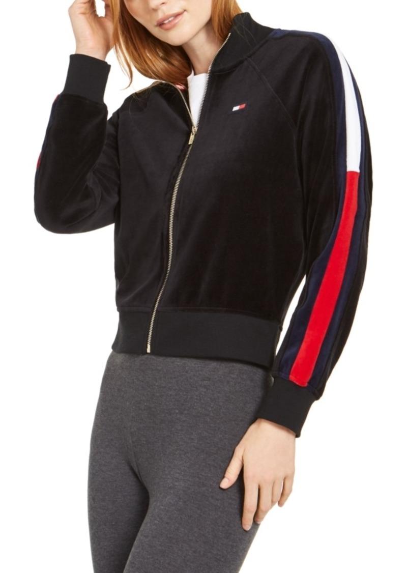 Tommy Hilfiger Sport Velour Cropped Track Jacket