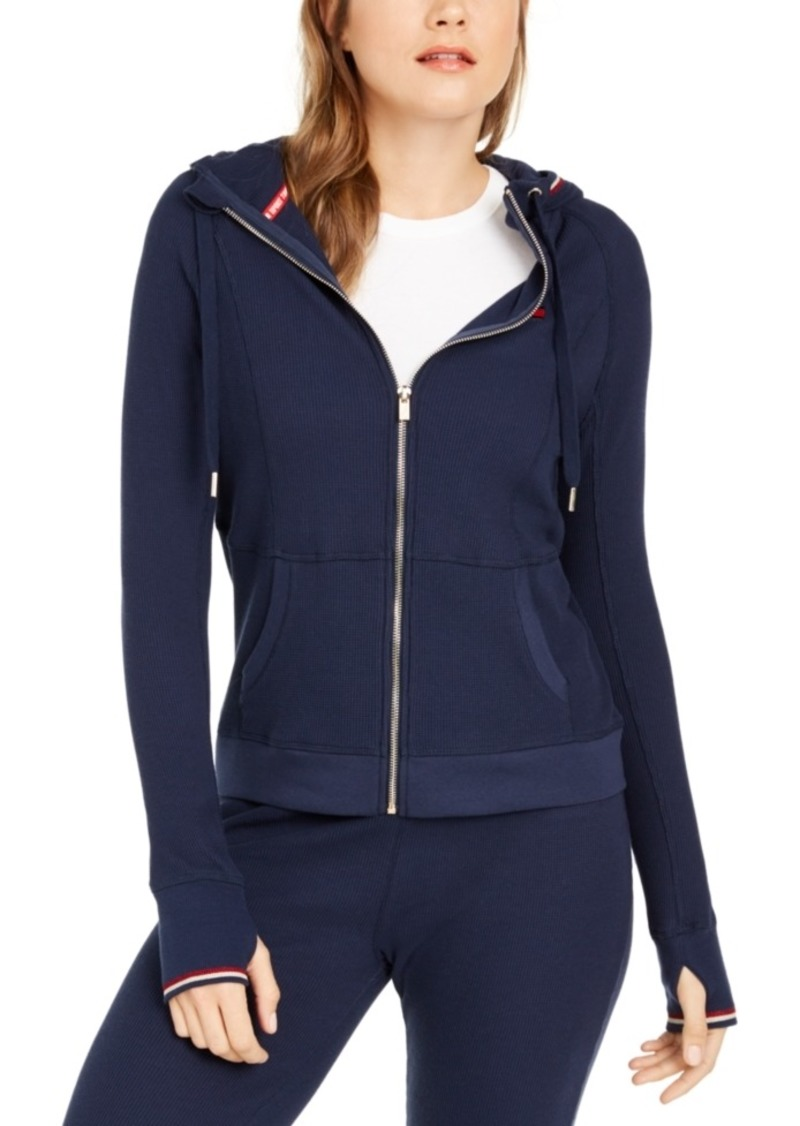 Tommy Hilfiger Sport Waffle-Knit Zippered Hoodie