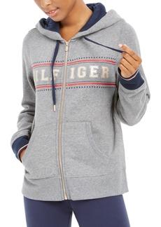 Tommy Hilfiger Sport Zippered Logo Hoodie