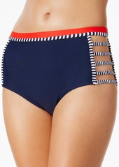 Tommy Hilfiger Strappy High-Waist Bikini Bottoms Women's Swimsuit