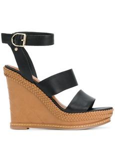 Tommy Hilfiger strappy wedge sandals - Black
