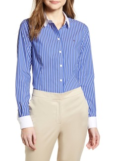 Tommy Hilfiger Stripe Button Front Shirt