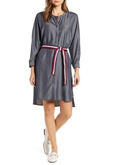 Tommy Hilfiger Stripe Long Sleeve Shirtdress