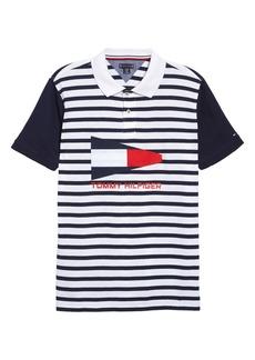 Tommy Hilfiger Stripe Polo (Big Boy)