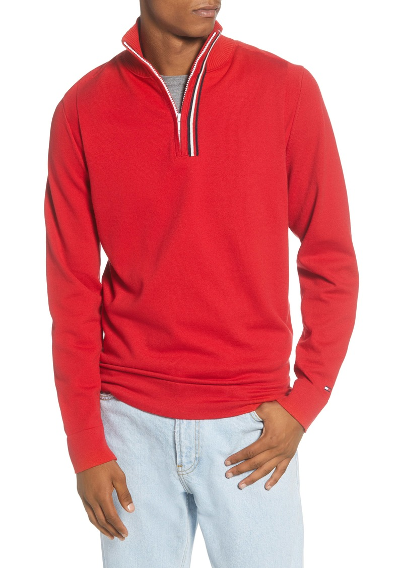 Tommy Hilfiger Stripe Quarter Zip Sweater