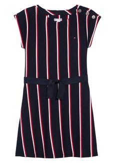 Tommy Hilfiger Stripe Short Sleeve Dress (Big Girl)