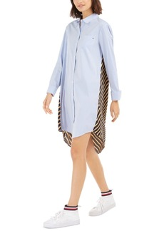 Tommy Hilfiger Striped & Solid Tunic Dress
