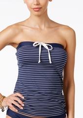 Tommy Hilfiger Striped Bandeau Tankini Top Women's Swimsuit