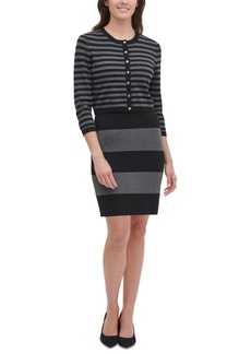 Tommy Hilfiger Striped Cardigan Sweater