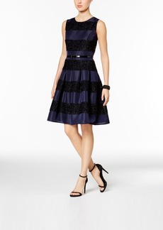Tommy Hilfiger Striped Fit & Flare Dress
