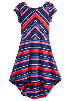 Tommy Hilfiger Striped High-Low Dress, Big Girls (7-16)