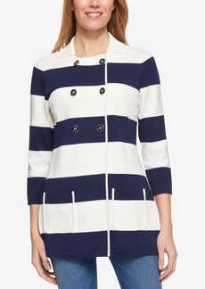 Tommy Hilfiger Striped Knit Jacket, Only at Macy's