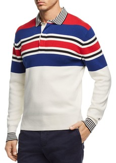 Tommy Hilfiger Striped Knit Regular Fit Polo Shirt