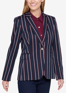 Tommy Hilfiger Striped One-Button Blazer, Created for Macy's