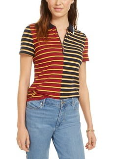Tommy Hilfiger Striped Pique Zip Polo Shirt