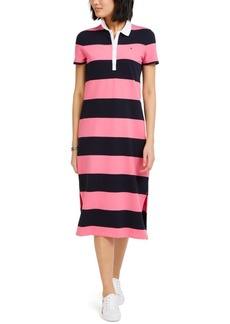 Tommy Hilfiger Striped Polo-Neck Dress