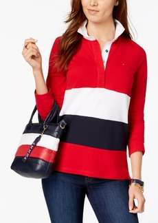 Tommy Hilfiger Striped Rugby Top, Created for Macy's