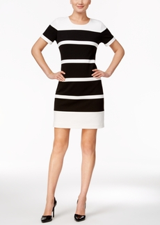 Tommy Hilfiger Striped Scuba Crepe Sheath Dress