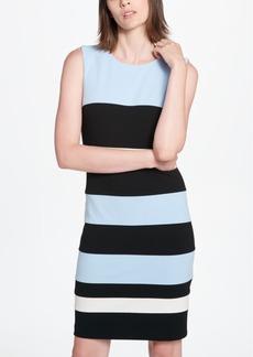 Tommy Hilfiger Striped Scuba Sheath Dress
