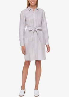 Tommy Hilfiger Striped Shirtdress, Only at Macy's