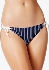 Tommy Hilfiger Striped Side-Tie Bikini Bottoms Women's Swimsuit