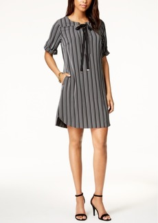 Tommy Hilfiger Striped Tie-Neck Dress, Created for Macy's