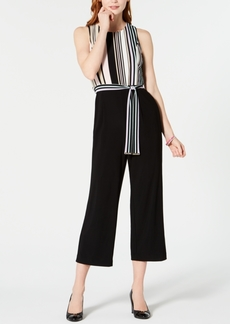Tommy Hilfiger Striped-Top Cropped Jumpsuit, Created for Macy's