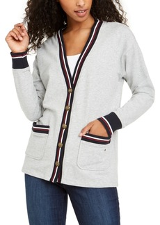 Tommy Hilfiger Striped-Trim Cardigan