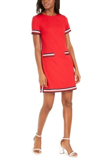 Tommy Hilfiger Striped-Trim Dress
