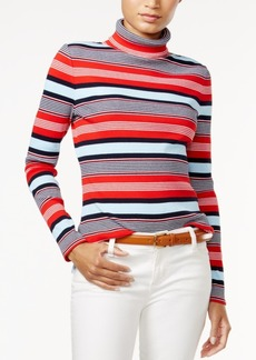 Tommy Hilfiger Striped Turtleneck, Only at Macy's