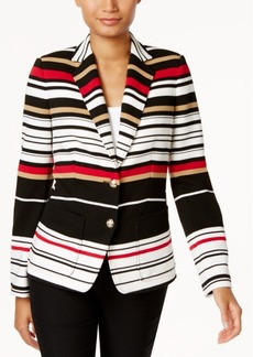Tommy Hilfiger Striped Two-Button Jacket