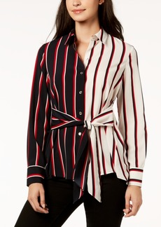 Tommy Hilfiger Striped Two-Tone Shirt