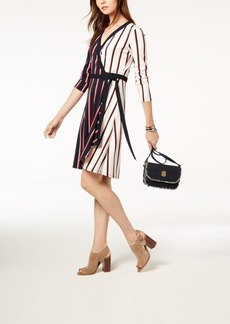 Tommy Hilfiger Striped Wrap Dress, Created for Macy's