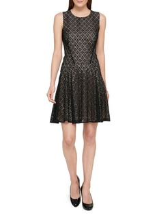 Tommy Hilfiger Sundial Lace Fit-&-Flare Dress