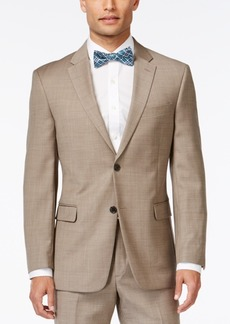 Tommy Hilfiger Tan Sharkskin Classic-Fit Jacket