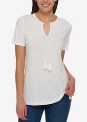 Tommy Hilfiger Tassel-Tie T-Shirt, Created for Macy's