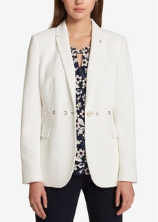 Tommy Hilfiger Textured Lace-Through Blazer