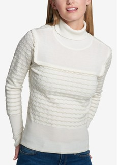 Tommy Hilfiger Textured Turtleneck Sweater, Created for Macy's