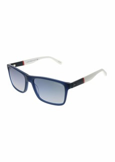 Tommy Hilfiger Th1405s Rectangular Sunglasses RED White/Flash Blue Sky 56 mm