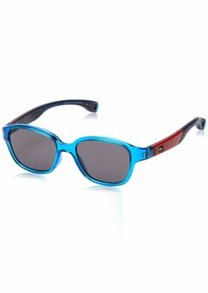Tommy Hilfiger TH1499/S Oval Sunglasses AZURE