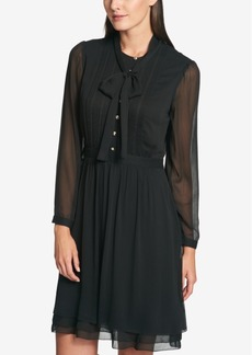 Tommy Hilfiger Tie-Neck Shirtdress, Created for Macy's
